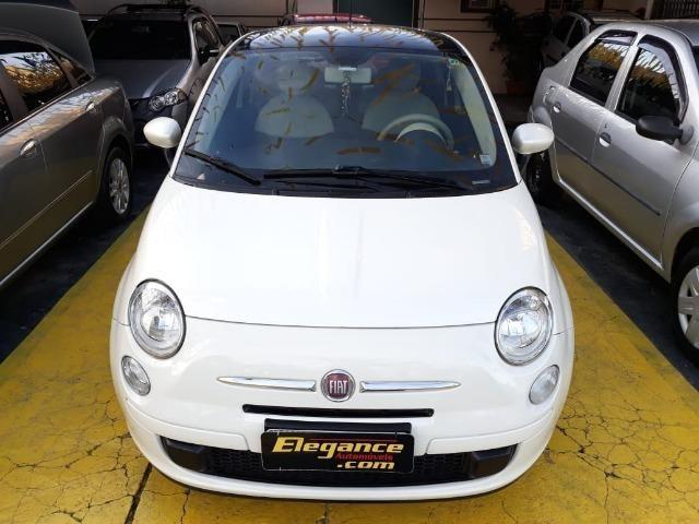 Fiat 500 Perola!! Financio Sem Ent. nao ka c3 onix 208 kwid up hb20 cooper mobi uno gol - Foto 6