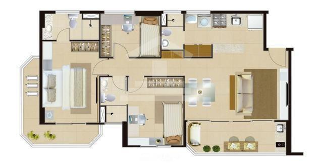 Apartamento no Guararapes,74,50M²,Aqui seu Novo Endereço,3Quartos,2Suites,Lazer - Foto 13