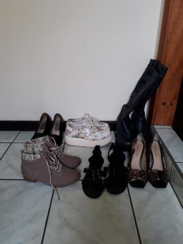 Todos os sapatos 37 por 55 reais tudo . novos e usados