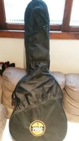 Violao eletrico tagima woodstock novo e com bag estofado - Foto 2