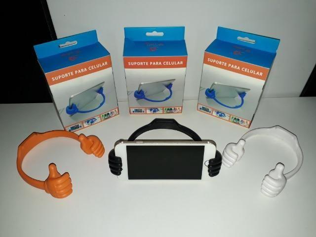Suporte De Mesa Mãozinha P/ Smartphone, Tablet, Ipad