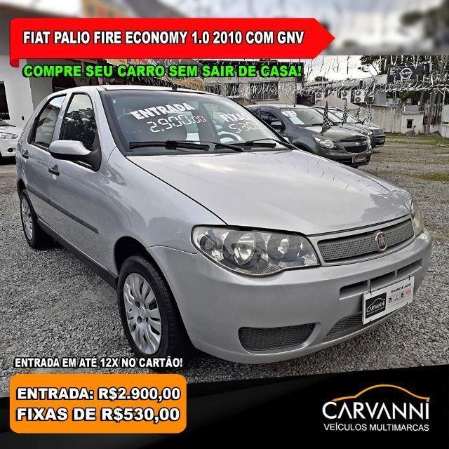Fiat Palio Fire Economy 1.0 4P 2010 Completo com GNV