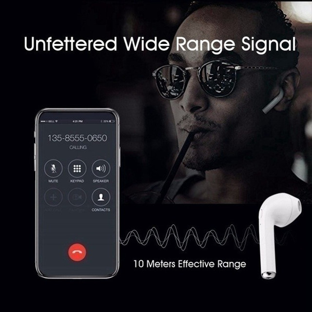 Fone de ouvido i7 tws i7s mini, wireless, bluetooth, headset, com caixa carregadora - Foto 4