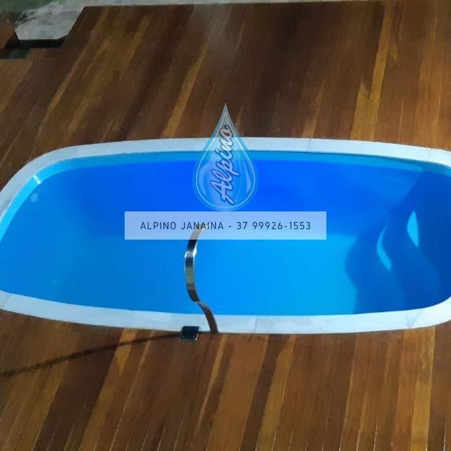 JA - Piscina de fibra média - 4 metros x 2 metros - Foto 3