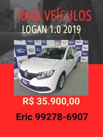 Logan 1.0 autentique 2019 R$ 35.900,00 - Rafa Veiculos - Eric