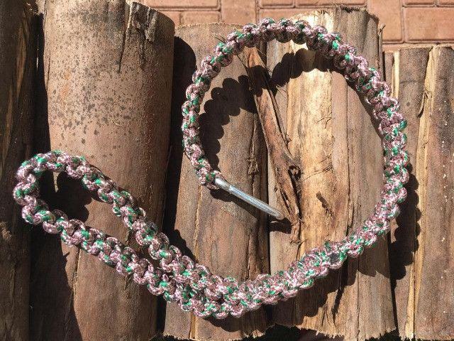Guias e coleiras de corda artesanal - Foto 5
