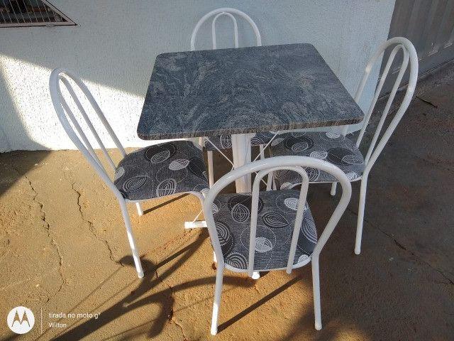 Mesa tubular 4 cadeiras - Araguari - Foto 4