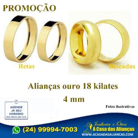 Lindas Alianças ouro 18k _24_ * - Foto 3