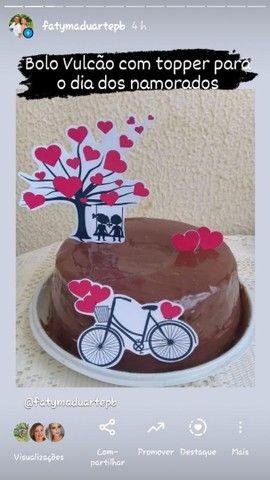 kit com bolo vulcão para o dia dos Namorados - Foto 2