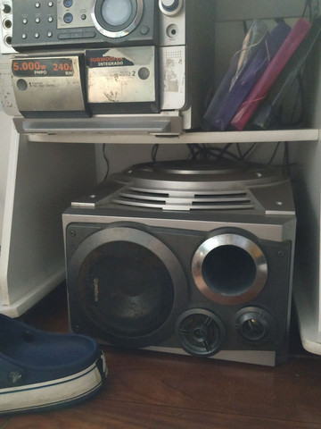 Som gradiente antigo micro syestem MP3 240rms - Foto 2