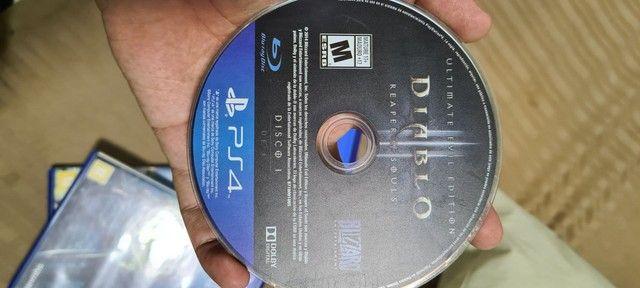 Playstation 4 com 6 jogos físicos  - Foto 6