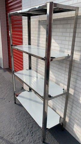 Bancada de aço inox mesa de aço inox  - Foto 5