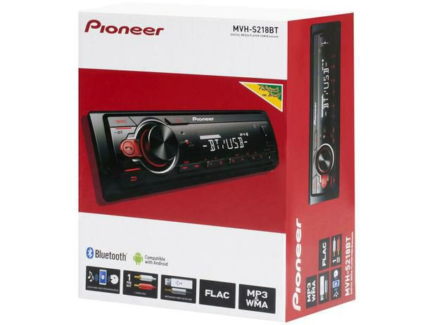 Som Automotivo Pioneer MP3 Player Rádio AM/FM - Bluetooth USB Auxiliar MVH-S218BT<br><br> - Foto 6