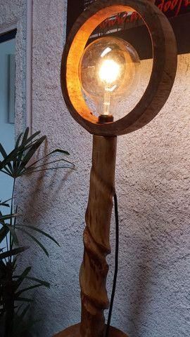 Luminária Abajur rústica exclusiva. - Foto 2