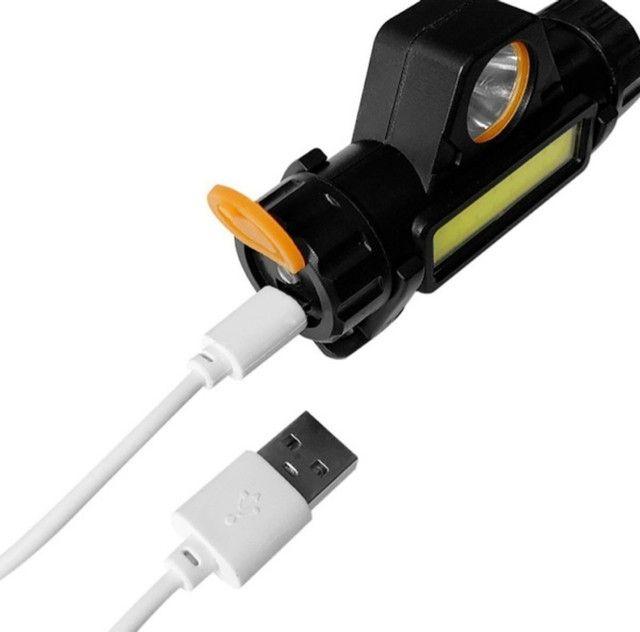 Lanterna de Cabeça recarregável - Luz LED aberta e Longa Distância a prova d água<br> - Foto 4