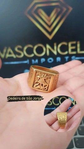 Dedeira de São Jorge feito de moeda antiga cor idêntica ao ouro18k FRETE GRÁTIS EM FORTAL