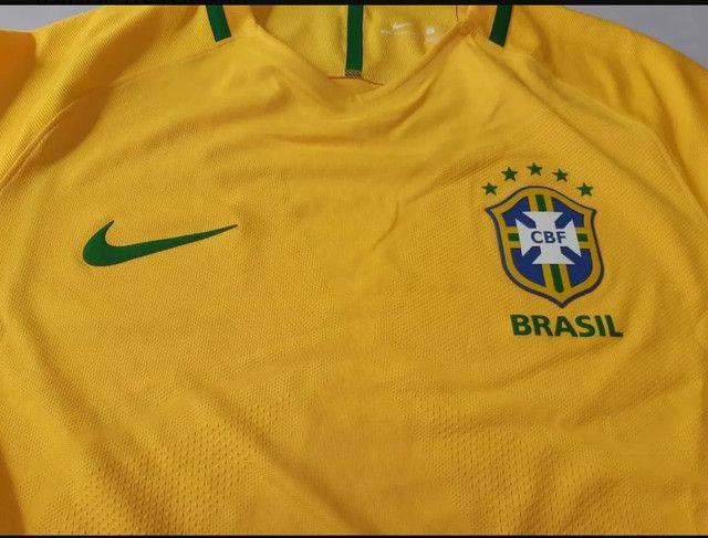 Camisa Seleção Brasileira 17/18 VERSÃO JOGADOR' Nova com Etiqueta. - Foto 4
