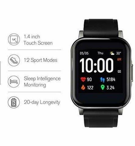 Relógio Smartwatch Haylou Ls02 Preto - Foto 4