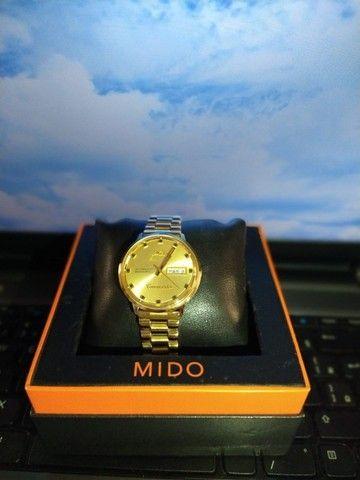 Relógio Mido Commander banhado à ouro - Foto 5