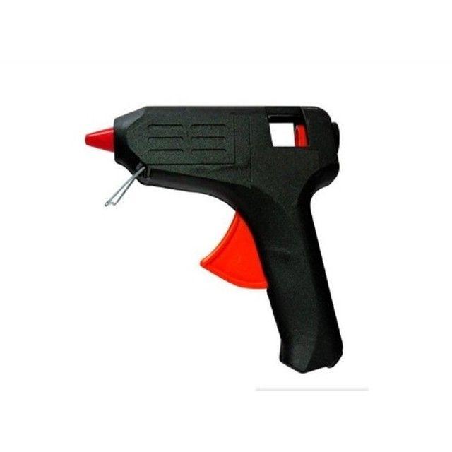 Pistola Para Cola Quente Bivolt 10w Com Botão Liga E Desliga - Foto 2