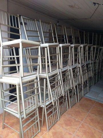 Vendo cadeiras reforçada ótima conservação Usada ótima conservação ( 70,00 CADA ) entrego  - Foto 2