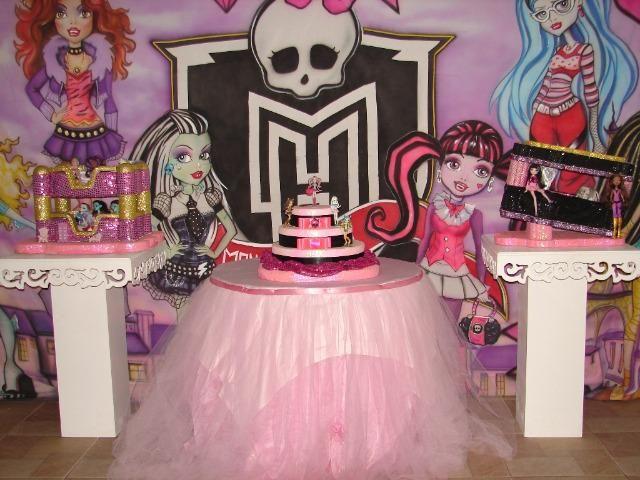 Decoração temática tema Monster High - Serviços para Aniversário Infantil