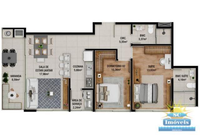 Apartamento à venda com 2 dormitórios em Ingleses, Florianopolis cod:14329 - Foto 2