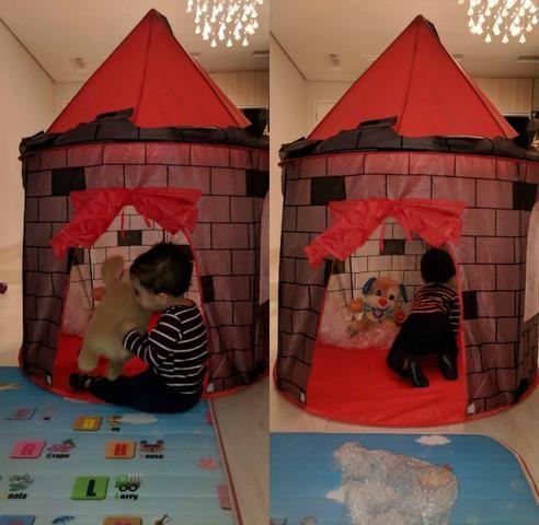 Barraca Toca Infantil Castelo Torre Dobravel Brinquedo - Foto 3