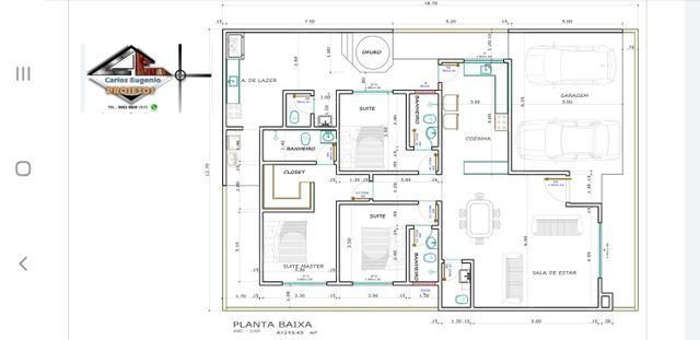 Casa nova 3suítes churrasqueira ofurô rua 10 Vicente Pires condomínio fechado - Foto 9