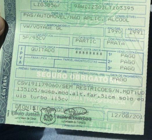 Voyage GL 91 Turbo Legalizado - Foto 6