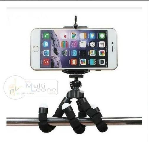 Mini Tripé Flexível + Suporte p/ Celular Gopro Câmera Universal - Foto 4