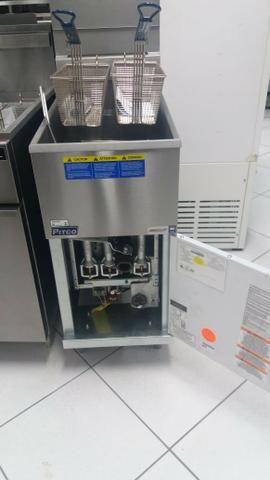 Fritadeira economica de alta produção a gás (nova) Alecs - Foto 2