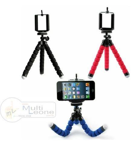 Mini Tripé Flexível + Suporte p/ Celular Gopro Câmera Universal - Foto 2