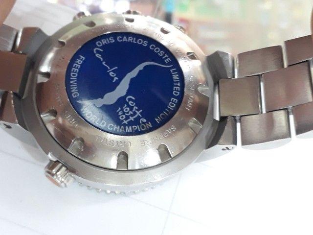 Relógio Oris Carlos Coste Chronograph Limited Edition - Foto 3