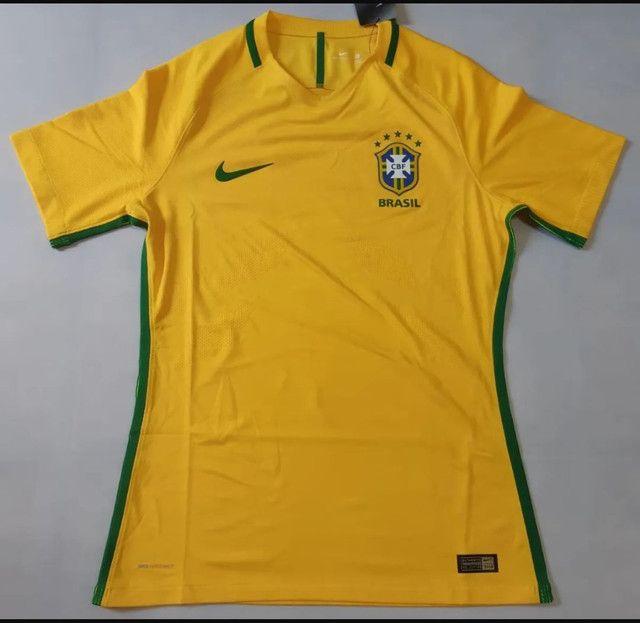 Camisa Seleção Brasileira 17/18 VERSÃO JOGADOR' Nova com Etiqueta. - Foto 2