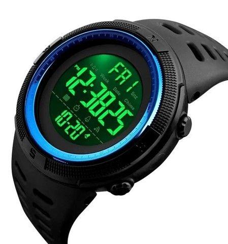 Relógio Masculino Skmei 1251 Preto/Azul 5ATM Original - Foto 3