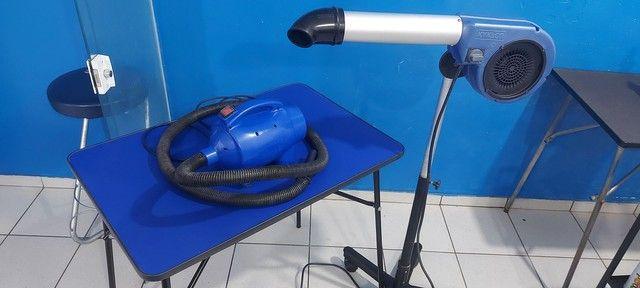 Kit para banho e tosa soprador secador mesa - Foto 4