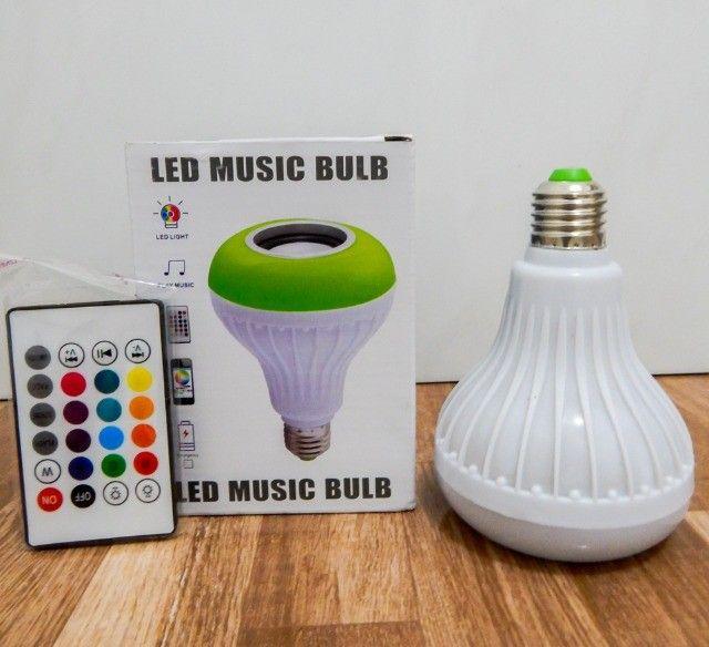 Lâmpada Led Bluetooth Music (aceito cartão) - Foto 2