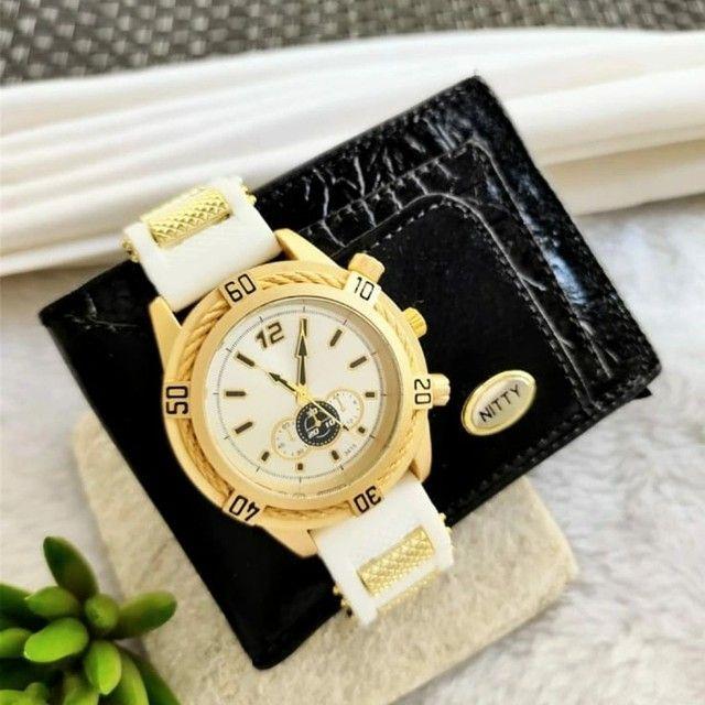 Relógio masculino com carteira - Foto 2
