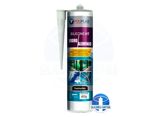 Silicone Neutro HT Vidro e Alumínio 400g (Incolor)