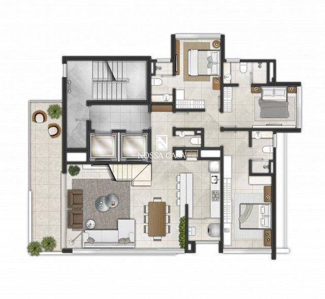 Apartamento com 03 suítes, lavabo, 02 box de garagem no Di Milano em Torres/RS - Foto 11