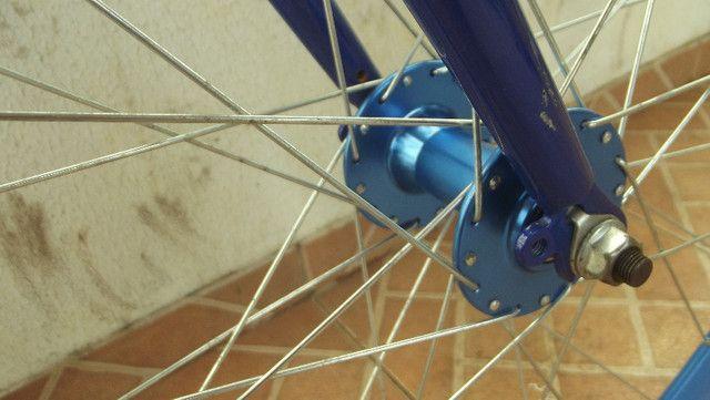 Bike roda-fixa Create azul - Foto 3
