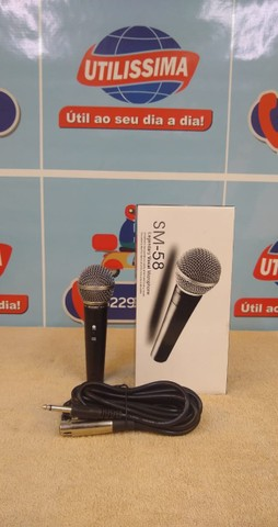 Microfone SM-58 com cabo ? Entrega Gratis  - Foto 4
