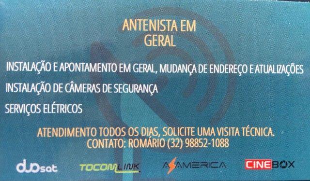 Instalação com antena e sem antena - Foto 2