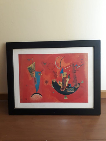 2 quadros decorativos abstratos 67cm x 53cm cada - Foto 4