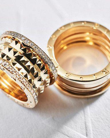Par de Alianças bvlgari com diamantes naturais em ouro 18k  - Foto 3