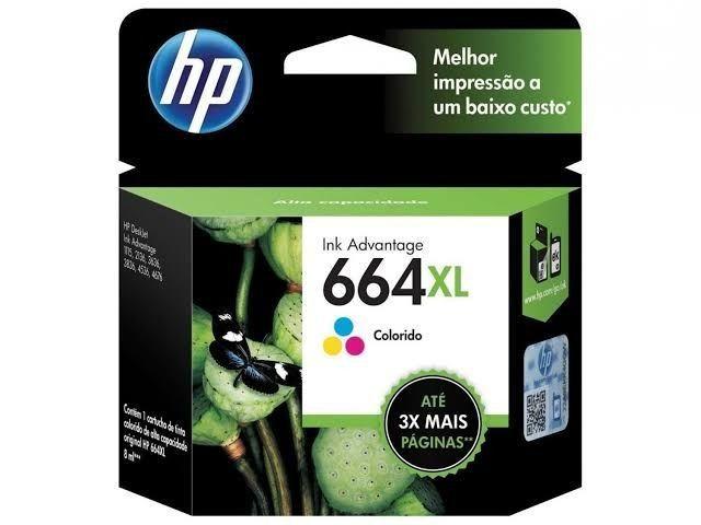 KIT CARTUCHO HP 664XL - PRETO E COLORIDO - ORIGINAL - Foto 2