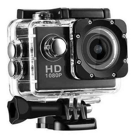 Câmera esportiva go pro 1080p à prova d'água