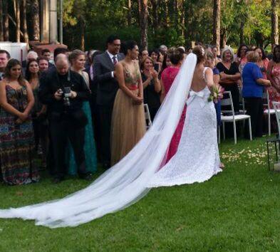 Vestido de noiva todo em renda Gripir usado 2x - Foto 4