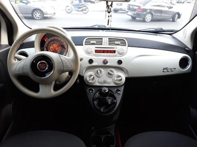 Fiat 500 Perola!! Financio Sem Ent. nao ka c3 onix 208 kwid up hb20 cooper mobi uno gol - Foto 9